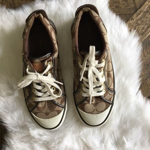 COACH Brown Barrett Sneakers